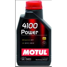 100271 MOTUL 4100 Power 15w-50 синт. 4 л