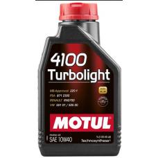 100355 MOTUL 4100 Turbolight 10w-40 п/с 4 л